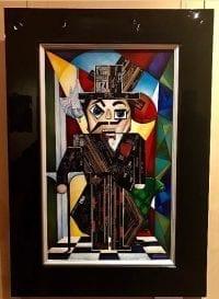 Картина из сигарных бантов Клетчатый Джентльмен
