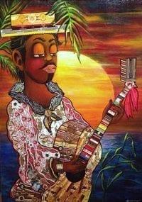 Картина из сигарных бантов Кубинская песня-2