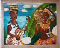 """Картина из сигарных бантов """"Гаитяне"""""""