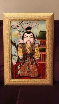 Картина из сигарных бантов Самурай