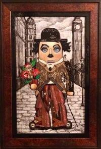 Картина из сигарных бантов Щелкунчик Чарли Чаплин