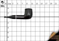 Курительная трубка Gasparini Mignon пенка Black Billiard