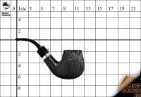 Курительная трубка L'anatra Black Silk Classic Silver Bent