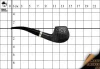 Курительная трубка L'anatra Black Silk Classic Silver Bent Apple