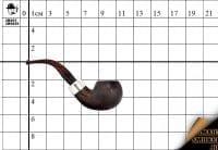 Курительная трубка Peterson Ashford Cumberland Silver 03