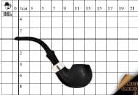 Курительная трубка Peterson Standart System Silver 302