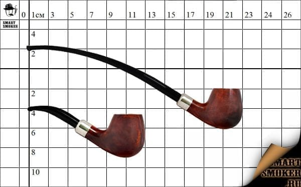 Курительная трубка Vauen Churchwarden Brown №3604
