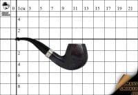 Курительная трубка Vauen Deluxe матов. №06 Panel Bent